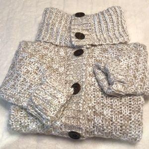 TWIK marled knit sweater cardigan w/ wood buttons